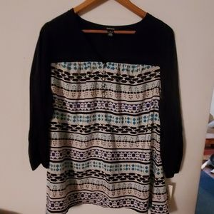Style & Co Woman NWT Long Sleeve Blouse - 1X